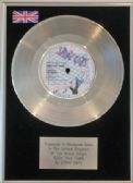 STRAY CATS - 7inch Platinum Disc - ROCK THIS TOWN